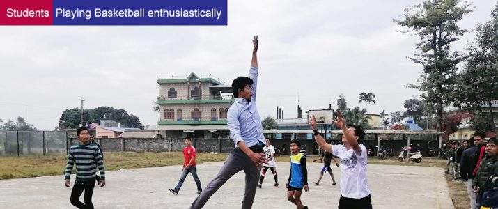 Students Playing Basketball