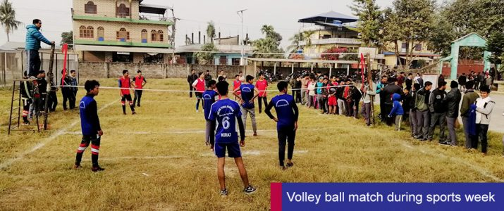 Volleyball Match (Sports Week)